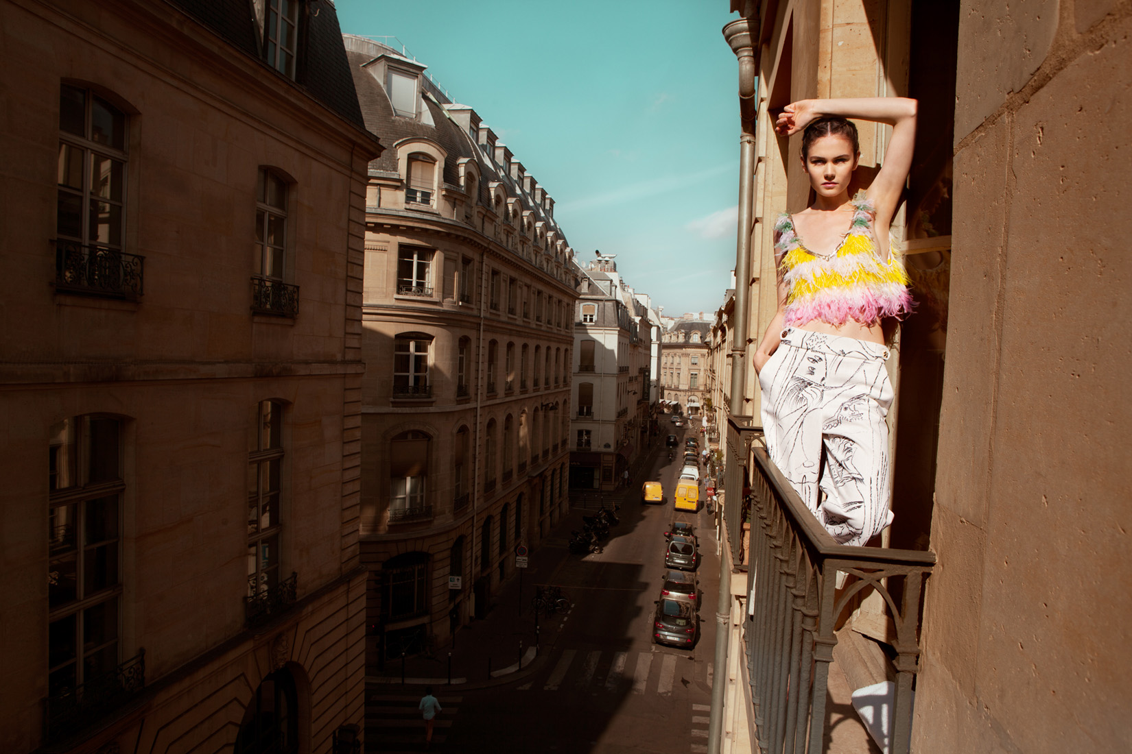 Paris Editorial: Out of the Bleu by Amaris Granado